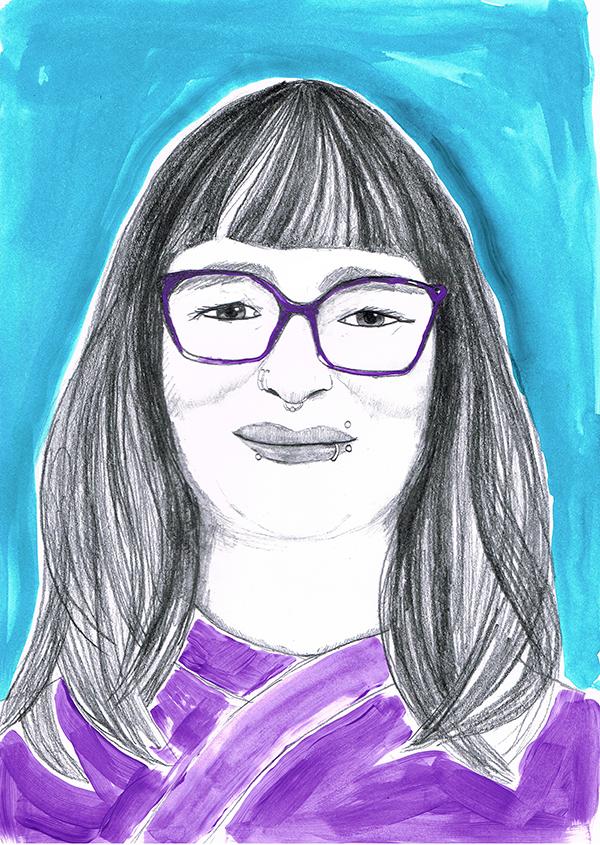 Koloriertes Porträt von Janne Misiewicz